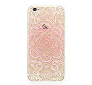 cheap -Case For Apple iPhone X iPhone 8 Plus Transparent Pattern Back Cover Mandala Lace Printing Soft TPU for iPhone X iPhone 8 Plus iPhone 8