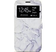 Funda Para Samsung Galaxy J7 (2016) J5 (2016) Soporte de Coche con Soporte Diseños Cuerpo Entero Mármol Dura Cuero Sintético para J7