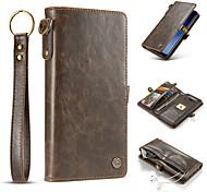 Кейс для Назначение SSamsung Galaxy S8 Plus S8 Бумажник для карт Кошелек Флип Чехол Сплошной цвет Твердый Натуральная кожа для S8 S8 Plus