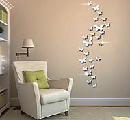 Недорогие -Абстракция Животные 3D Наклейки Простые наклейки 3D наклейки Зеркальные стикеры Декоративные наклейки на стены 3D, Акрил Украшение дома