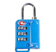 BINHAO 21103 Password Padlock Zinc Alloy 3 Password TSA Customs Lock Abroad Travel Customs Clearance Lock Dail Lock Password Lock