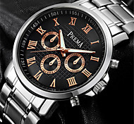 Муж. Модные часы Кварцевый Календарь Защита от влаги Фосфоресцирующий сплав Кожа Группа Серебристый металл Коричневый