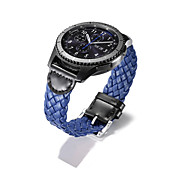 cheap -For Samsung Gear S3 Classic Hand made Woven Genuine Leather Modern Buckle band