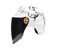 cheap -AD Helmet Female Motorcycle Male Power Electric Locomotive Half-Covered Anti-UV Black Tea Lens Shade Helmet