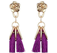 Women's Drop Earrings Tassel Alloy Flower Jewelry For Party Event/Party