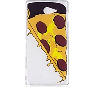 Case For Sony M2 XA Case Cover Pizza Pattern TPU Material IMD Craft Mobile Phone Case