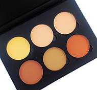 Недорогие -6 Color in 1 Palette , 4 Color Palette Select порошок Консилер/Contour Румяна Хайлайтеры и бронзеры Компактная пудра Сухие Матовое стекло