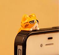 анти-пылесборник diy cat мультфильм игрушка pvc diy для iphone 8 7 samsung galaxy s8 s7