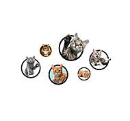 Недорогие -Животные Мультипликация Мода Наклейки Простые наклейки Декоративные наклейки на стены Фото наклейки материал Украшение домаНаклейка на