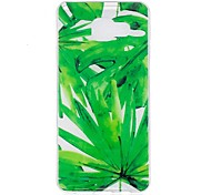 Case For Samsung Galaxy A3 (2017)  A5 (2017) Case Cover Green Leaves Pattern TPU Material IMD Craft Phone Case For Samsung A3 (2016) A5 (2016)
