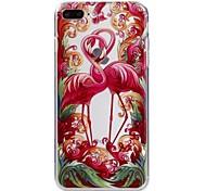 Para la caja del teléfono del iphone 7plus 7 de la manzana caja material del teléfono de la serie del flamenco del tpu 6s más 6plus 6s 6