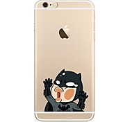 cheap -Case For Apple iPhone X iPhone 8 iPhone 8 Plus Transparent Pattern Back Cover Cartoon Soft TPU for iPhone X iPhone 8 Plus iPhone 8 iPhone