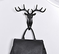 cheap -Antlers Clothing Handbag Holder  Hanger BUF American Country Style Animal Head Hanging Decoration Retro Antlers Hook Wall Decoration Vintage Resin