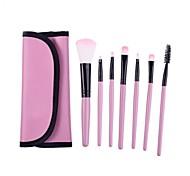 Makeup Brush Set Tools Make-up Toiletry Kit Soft Make Up Brush Set Professional Case 7 Pcs