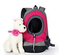 Недорогие -Кошка Собака Переезд и перевозные рюкзаки Животные Корзины Однотонный Компактность Дышащий Желтый Красный Зеленый Синий Розовый Для