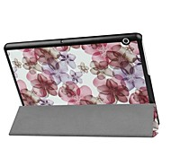 Painting Pattern Three fold PU Leather Case with Stand for Huawei MediaPad T3 10.0 inch Tablet PC
