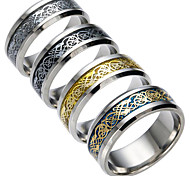cheap -Men's Cubic Zirconia Others Couple Rings - Fashion Black / Silver / Dark Blue Ring For Daily