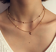 cheap -Women's Luxury Bohemian Layered Necklace - Personalized Luxury Tassel Classic Bohemian Elegant Fashion Simple Style Punk Round Others