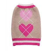 Cat Dog Coat Sweater Dog Clothes Party Casual/Daily Cosplay Keep Warm Wedding Christmas New Year's Hearts Blushing Pink