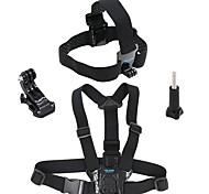 Недорогие -Нагрудный ремень Ремни на голову Легко туалетный Дышащий Простота транспортировки Водонепроницаемый Для Экшн камера Gopro 6 Все SJCAM