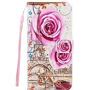 Fallabdeckung für Samsung Galaxy S8 plus S7 Rand Turm Rose PU Leder Flip Case mit magnetischen Snap und Card Slot für s7 s6