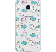 Case For Samsung Galaxy A3 (2017) A5 (2017) Case Cover White Horse Pattern Painted High Penetration TPU Material IMD Process Soft Case Phone Case