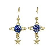 Недорогие -Жен. обожаемый Звезда В форме банта Синтетический алмаз Стразы Серьги-слезки - Классический / Мода / Простой стиль Синий / Розовый