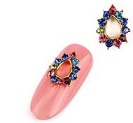 2PCS  Alloy Inlay Jewel Nail Art Decoration