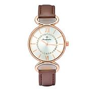 Mulheres Relógio de Moda Relógio de Pulso Quartzo Couro Banda Casual Branco Marrom