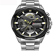Men's Sport Watch Fashion Watch Unique Creative Watch Casual Watch Chinese Quartz Water Resistant / Water Proof Stainless Steel BandCharm