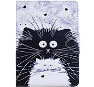 Case For Samsung Galaxy T280 T580 Case Cover Cat Pattern PU Material Triple Tablet PC Case Phone Case