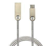 cheap -USB 2.0 Type-C USB Cable Adapter High Speed Quick Charge Cable For Huawei Xiaomi 100 cm Nylon