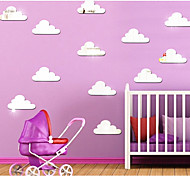 cheap -Three-Dimensional Crystal Clouds Mirror Decorate Children Room Wall Stickers