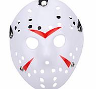 Недорогие -Хэллоуин новый пористый Джейсон убийца маска красная полоса 13-й хоррор хоккей косплей карнавал маскарад участник костюм костюм