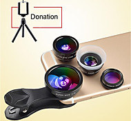 DONEWS 8X Long Focal Telescope Lens Smartphone Camera Lenses 0.4X Wide Angle 12X Macro fish-eye lens  for iphone Huawei xiaomi samsung
