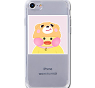 For  7Plus  Case Cover Transparent Pattern Back Cover Case Cartoon Animal Yellow duck Soft TPU for iPhone 7 6sPlus 6plus 6s 6  5 5s SE