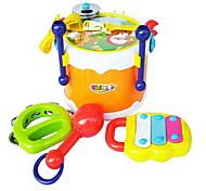 Игрушечные инструменты Игрушки Барабанная установка Игрушки Пластик Куски Дети Подарок