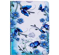 abordables -Coque Pour Apple iPad Mini 4 Mini iPad 3/2/1 iPad 4/3/2 iPad Air 2 iPad Air Clapet Coque Intégrale Papillon Fleur Dur faux cuir pour iPad