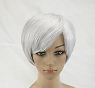 Парики из искусственных волос Без шапочки-основы Короткий Прямые Серый Парик из натуральных волос Карнавальные парики