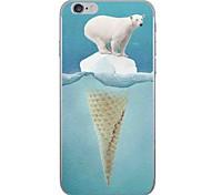 Случай для яблока iphone 7 7 плюс крышка случая белый цвет медведя hd покрашенный более толстый материал tpu мягкий случай случай телефона
