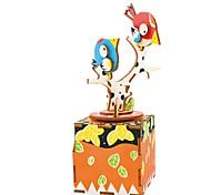 Набор для творчества музыкальная шкатулка Игрушки Птица Карусель Дерево Куски Для детей Универсальные День рождения День Святого Валентина