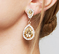 cheap -Women's Adorable Drop Crystal / Zircon / Imitation Diamond Drop Earrings / Earrings - Bridal / Elegant / Fashion Champagne Earrings For