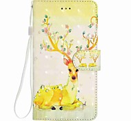 cheap -Case For Huawei P8 LITE P9 LITE Animal Pattern 3D PU Wallet Leather Card Holder with Hand Strap for Huawei P10 P10 LITE Y5 II P8 LITE 2017