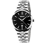 SKMEI Men's Fashion Watch Wrist watch Quartz Stainless Steel Band Silver
