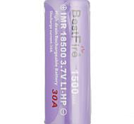 Недорогие -bestfire imr18650 3.7v Li-сильный аккумуляторная батарея 1500mAh 30а 3.7v