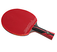 6 Stars Ping Pang/Table Tennis Rackets Ping Pang Carbon Fiber Long Handle Pimples 1 Racket 1 Table Tennis Bag