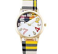 Mulheres Relógio de Pulso Único Criativo relógio Relógio Casual Relógio de Moda Chinês Quartzo Tecido Banda Casual Elegant Branco Azul