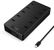 USB Charger 10 Ports Desk Charger Station With Switch(es) with Smart Identification with Quick Charge 3.0 with Charger Cables Universal