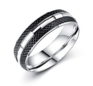 Men's Band Rings AAA Cubic Zirconia Basic Fashion Vintage Hip-Hop Gothic Classic Costume Jewelry Titanium Steel Circle Jewelry For Party