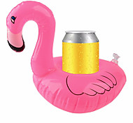 cheap -Inflatable Coasters Flamingos Aquatic Float Drink Cup Holder Tray Pool Party Supplies
